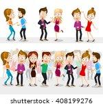 vector illustration of dancing... | Shutterstock .eps vector #408199276