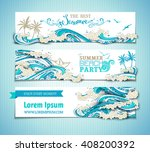 vector set of sea ocean... | Shutterstock .eps vector #408200392