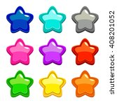 colorful vector star icons ...