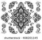 hand drawn mehendi ornament... | Shutterstock .eps vector #408201145