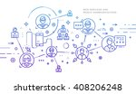 flat style  thin line art... | Shutterstock .eps vector #408206248