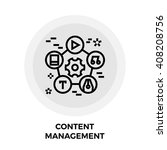 content management icon vector. ... | Shutterstock .eps vector #408208756
