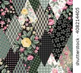 seamless floral patchwork... | Shutterstock .eps vector #408214405