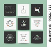sacred geometry. set of minimal ... | Shutterstock .eps vector #408214816