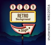 roadside retro sign with... | Shutterstock . vector #408220516