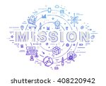 flat style  thin line art...   Shutterstock .eps vector #408220942