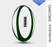 vector illustration of rugby... | Shutterstock .eps vector #408225892