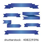 collection of dark blue... | Shutterstock .eps vector #408229396