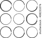 grunge circles  vector...   Shutterstock .eps vector #408231076