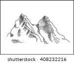 mountain peaks landscape...   Shutterstock .eps vector #408232216