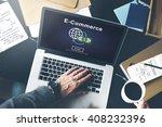 ecommerce market transaction... | Shutterstock . vector #408232396