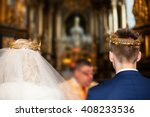 beautiful bride and groom in... | Shutterstock . vector #408233536