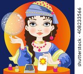 the fortuneteller | Shutterstock .eps vector #408233566