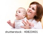 mother's love. cute little baby ... | Shutterstock . vector #40823401