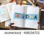 media entertainment broadcast... | Shutterstock . vector #408236722