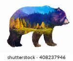 the grizzly bear on white... | Shutterstock . vector #408237946