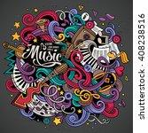 cartoon hand drawn doodles on... | Shutterstock .eps vector #408238516
