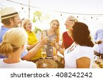 enjoyment food beverage wine... | Shutterstock . vector #408242242