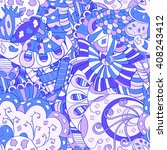 tracery seamless calming... | Shutterstock .eps vector #408243412