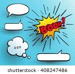 set of speech comic bubbles.... | Shutterstock .eps vector #408247486