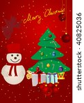 christmas background with... | Shutterstock .eps vector #40825036