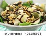 salad with raw mushrooms ... | Shutterstock . vector #408256915