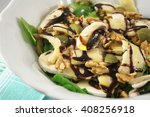 salad with raw mushrooms ... | Shutterstock . vector #408256918