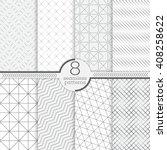 set of seamless patterns.... | Shutterstock .eps vector #408258622