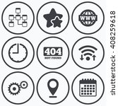 clock  wifi and stars icons.... | Shutterstock .eps vector #408259618