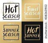 summer calligraphic.vector hand ... | Shutterstock .eps vector #408263902
