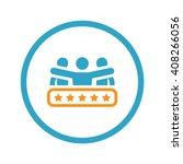 client satisfaction icon.... | Shutterstock .eps vector #408266056
