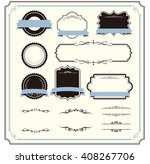 decorative frame set vector  | Shutterstock .eps vector #408267706