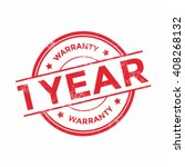 1 year warranty icon isolated... | Shutterstock .eps vector #408268132