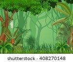 illustration of forest... | Shutterstock .eps vector #408270148