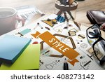 style trends fashion lifestyle... | Shutterstock . vector #408273142