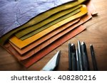 leather craft or leather... | Shutterstock . vector #408280216