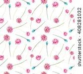 watercolor pink flowers... | Shutterstock . vector #408281032