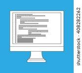 computer programming design  | Shutterstock .eps vector #408282262