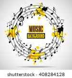 abstract musical background... | Shutterstock .eps vector #408284128