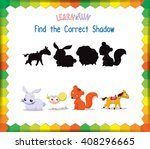 find the correct animals shadow | Shutterstock .eps vector #408296665