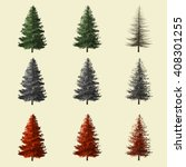 spruce tree season change set... | Shutterstock . vector #408301255