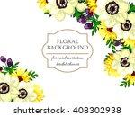 romantic invitation. wedding ... | Shutterstock .eps vector #408302938