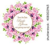 romantic invitation. wedding ...   Shutterstock . vector #408302965