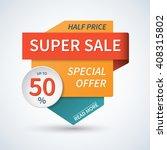 super sale banner. special... | Shutterstock .eps vector #408315802
