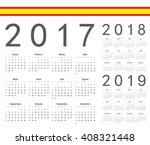 set of spanish 2017  2018  2019 ... | Shutterstock .eps vector #408321448