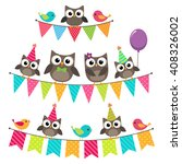 set of birthday party elements... | Shutterstock . vector #408326002