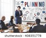 planning plan process solution... | Shutterstock . vector #408351778