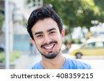 happy hispanic guy in the city | Shutterstock . vector #408359215