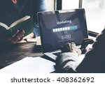 updating software technology... | Shutterstock . vector #408362692
