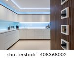 Stock photo breathtaking light interior design od kitchen 408368002